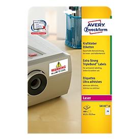 Krachtlijm-etiketten voor laserprinters, 63,5 x 33,9 mm