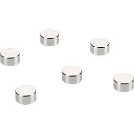 Kraft-Magnete für Glas-Magnettafel, 6 St.