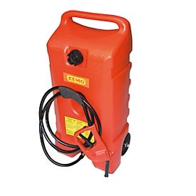 Kraftstofftrolley CEMO, Zapfpistolenpumpe, 53 l, Hart-Polyethylen, B 870 x T 420 x H 330 mm
