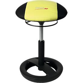 Kruk Sitness RS Bob, beweeglijk zitten, in hoogte verstelbaar, ergonomisch, zwart/groen