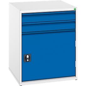 Ladekast Verso, 2 x 100 mm schuifladen, 1 deur, zonder slot