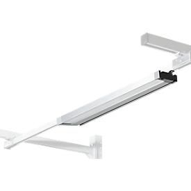 Lámpara lineal LED Packpool, con pantalla prismática, 3 módulos LED, línea de alimentación 5 m