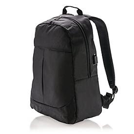 Laptop-Rucksack, Schwarz, Standard, Auswahl Werbeanbringung erforderlich