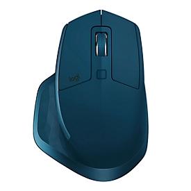 Laser-Maus Logitech MX Master, kabellos, 5 Tasten, 1600 dpi, mit USB-Empfänger, schwarz