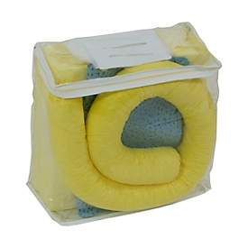 Leckage Notfallset gegen Chemikalien gelb, 20 l Aufnahme, 41 Teile, in PVC-Tasche