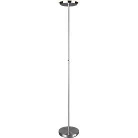 LED-bodemlamp PONDA, 2100 lm, 3000 K warm wit, Ø 280 x H 1790 mm, nikkel mat