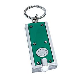 LED-Schlüsselanhänger, Grün, Standard, Auswahl Werbeanbringung optional