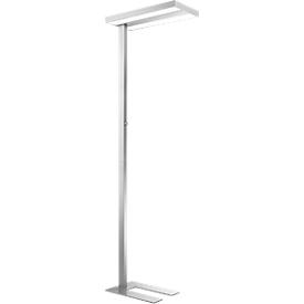 LED-Stehleuchte, stufenlos dimmbar, direkt & indirekt leuchtend, H 1950 mm, 2 x 30 W, alusilber