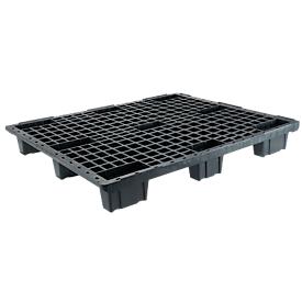 Leichtpalette FP-LP1208-9L, Tragkraft 1800/800 kg, 9 Füße, ineinander stapelbar, L 1200 x B 800 x H 153 mm, Recycling-HDPE, 10 Stück