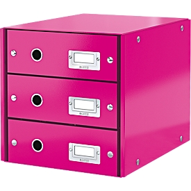 LEITZ® 3 Schubladen Click + Store, hoch, pink