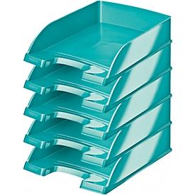 LEITZ® Ablagekorb Wow 5226, DIN A4, 5 Stück, eisblau