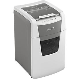 LEITZ Aktenvernichter IQ Autofeed Office 150, vollautomatisch, Partikelschnitt 4 x 28 mm P-4, 44 l, 8-150 Blatt Schneidkapazität, weiß