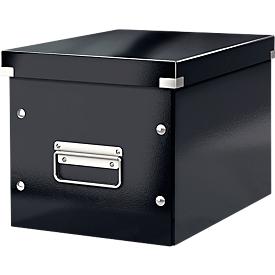 LEITZ® Aufbewahrungsbox Click + Store, für ovale/höhere Gegenstände 260 x 240 x 260 mm, schwarz