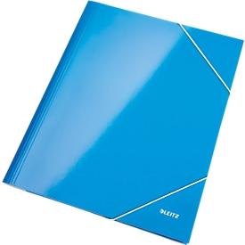 LEITZ® Eckspannmappe WOW, DIN A4, 3 Schutzklappen, blau