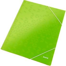 LEITZ® Eckspannmappe WOW, DIN A4, 3 Schutzklappen, grün