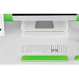 LEITZ® Ergo WOW polssteun voor toetsenborden, ergonomisch, 2-staps hoogteverstelbaar, L 437 x B 71 x H 21 mm, wit/groen