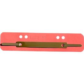 LEITZ® hechtstroken, karton, A4, 25 stuks, rood