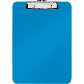 LEITZ® klembord WOW 3971, A4, polystyreen, met ophangoog, blauw