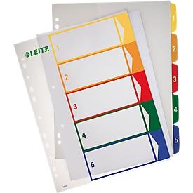 LEITZ® kunststof indexbladen extra breed, cijferindex, cijfers 1-5,  nr. 1291