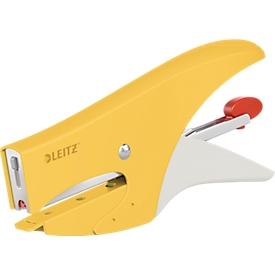 Leitz® Metallheftzange 5577 Cosy, Hinterlademechanik, inkl. 1.000 Heftklammern, gelb