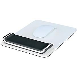 Leitz® muismat Ergo WOW met in hoogte verstelbare polssteun, ergonomisch, L 260 x B 200 mm, wit/zwart