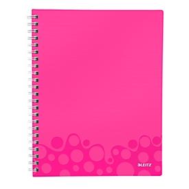 LEITZ Notizbuch WOW Get Organised 4642, DIN A4, liniert, pink