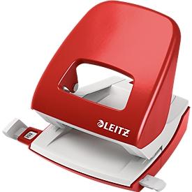 LEITZ® office punch NeXXt serie 5008, metal, rojo
