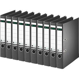 LEITZ® ordner 1007/1008, A4, rugbreedte 52 mm, 10 stuks, zwart