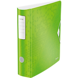 LEITZ® Ordner Active WOW, DIN A4, Rückenbreite 82 mm, 5 Stück, grün
