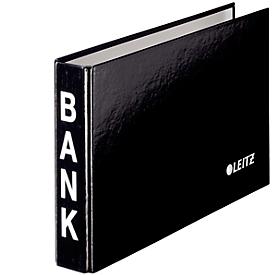 LEITZ® ordner voor bankafschriften, A6 liggend, materiaal: karton met PP-laminering, zwart