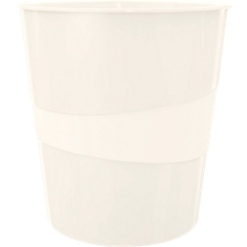 LEITZ® Papierkorb WOW, 15 Liter, perlweiß