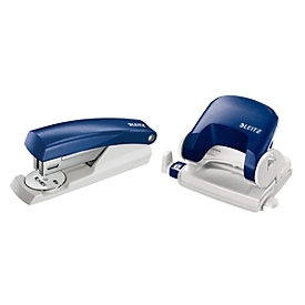 LEITZ® perforator 5038 + nietmachine 5501 SET, blauw