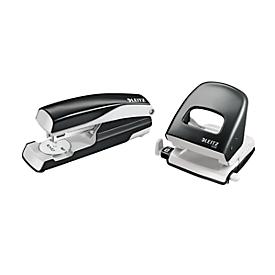 LEITZ® perforator + tafelnietmachine Wow SET, zwart