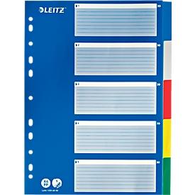 LEITZ® PP-indexbladen met blauw dekblad, blanco