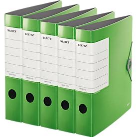 LEITZ® Qualitätsordner SOLID, DIN A4, Rückenbreite 62 mm, 5 Stück, hellgrün