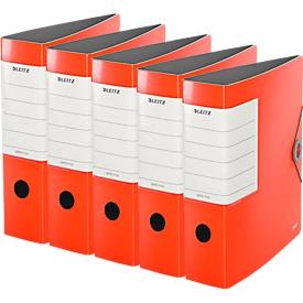 LEITZ® Qualitätsordner SOLID, DIN A4, Rückenbreite 82 mm, 5 Stück, hellrot