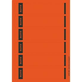 LEITZ® Rückenschilder kurz, PC-beschriftbar, Rückenbreite 50 mm, selbstklebend, 150 St., rot