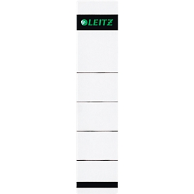LEITZ® Rugetiketten, voor ordner met een rugbreedte van 50 mm, zelfklevend, 10 stuks, grijs
