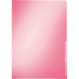 LEITZ® Sichthülle Premium 4100, DIN A4, glatt, 100 Stück, rot