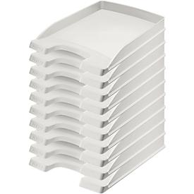 LEITZ® sorteerbak Plus 5237, A4, 10 stuks, grijs