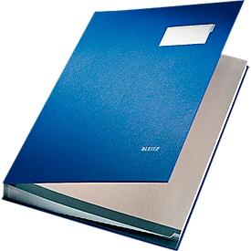 LEITZ Unterschriftenmappe A4, 20 Fächer, Karton/Polypropylen, blau