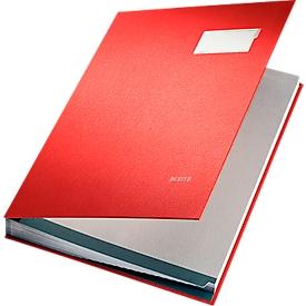 LEITZ vloeiboek A4, 20 waaiers, karton/polypropeen, rood