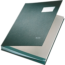 LEITZ vloeiboek A4, 20 waaiers, karton/polypropeen, zwart