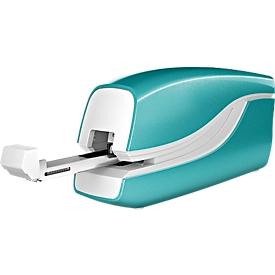 LEITZ® WOW Elektrisches Heftgerät, metallic-eisblau