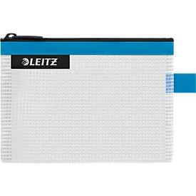 Leitz WOW Traveller Zip-Beutel, wasserabweisend, durchsichtiges Material, Größe S, blau