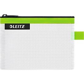 Leitz WOW Traveller Zip-Beutel, wasserabweisend, durchsichtiges Material, Größe S, grün