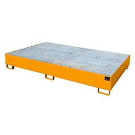 Lekbak AW 1000-10/2, oranje RAL 2000