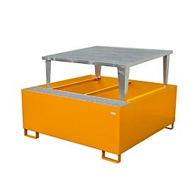 Lekbak AWA 1000-1, oranje RAL 2000