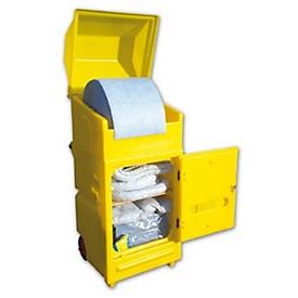 Lekkage set voor noodgevallen in onderhoudskar, olieabsorberend voor allerlei soorten olie,  300 l