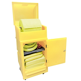 Lekkage set voor noodgevallen in onderhoudskar, voor diverse chemicaliën (zuren), 200 l